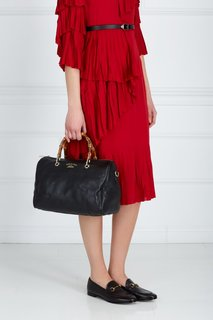 Кожаная сумка Bamboo Shopper Gucci