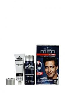 Краска для волос Men Perfect Тонирующий гель для мужчин Черный 90, 80 мл