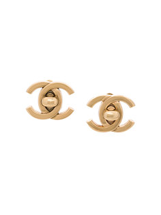Turn-lock Earrings Chanel Vintage