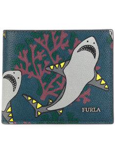 бумажник с принтом акул Furla