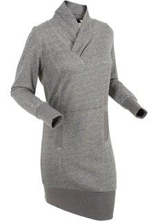 Трикотажное платье (шиферно-серый) Bonprix