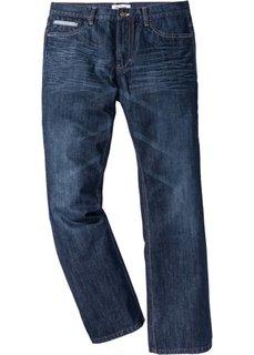 Расклешенные джинсы Regular Fit с контрастными швами, cредний рост (N) (темно-синий) Bonprix