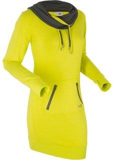Трикотажное платье (зеленый лайм) Bonprix