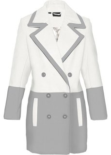 Короткое пальто из искусственной шерсти (серый меланж/цвет белой шерсти) Bonprix