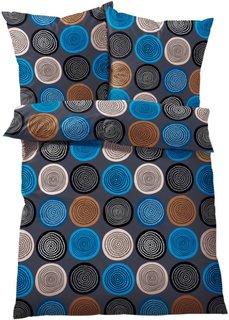 Постельное белье Круги, фланель (синий) Bonprix