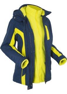 Функциональная куртка 3 в 1 (темно-синий/зеленый лайм) Bonprix