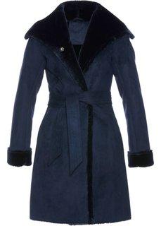 Пальто из искусственной кожи (темно-синий) Bonprix