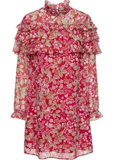 Шифоновое платье (красный в цветочек) Bonprix