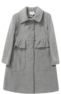 Однобортное пальто с оборкой Aletta