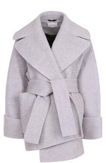 Укороченное шерстяное пальто с поясом Carven