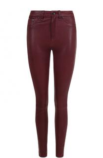 Однотонные кожаные брюки-скинни Rag&Bone Rag&;Bone