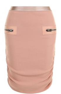 Шерстяная юбка-карандаш с драпировкой Tom Ford
