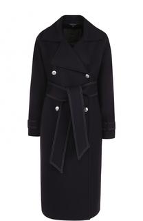 Приталенное двубортное пальто с поясом Belstaff