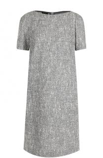Шерстяное платье-миди с коротким рукавом Escada
