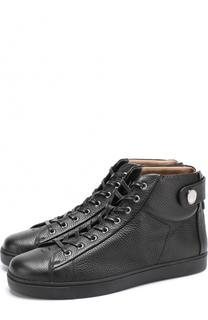 Высокие кожаные кеды на шнуровке Gianvito Rossi