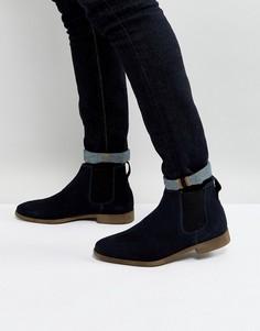 Темно-синие замшевые ботинки челси KG By Kurt Geiger Guildford - Синий