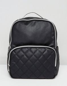 Стеганый рюкзак с карманом Liquorish - Черный