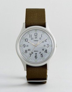 Часы из алюминия с зеленым ремешком Timex MK1 - Зеленый