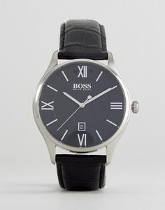 Часы с черным кожаным ремешком BOSS By Hugo Boss 1513485 Governor - Черный