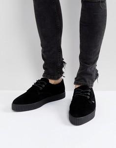 Замшевые кроссовки-криперы T.U.K - Черный