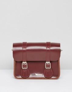 Красный кожаный портфель 7 дюймов Dr Martens - Красный