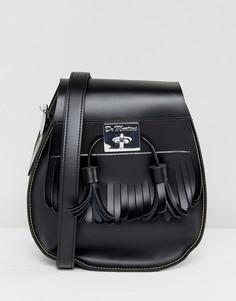 Черная сумка-седло с кисточками Dr Martens - Черный
