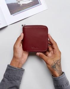 Кожаный кошелек на молнии Dr Martens - Красный