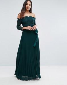 Платье макси с кружевным топом Coast Imi - Зеленый