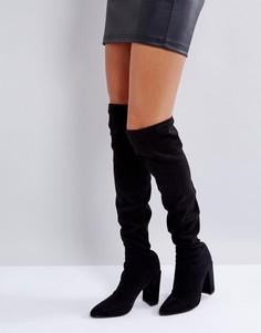 Ботфорты с острым носком Missguided - Черный
