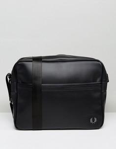 Черная сумка почтальона Fred Perry Pique - Черный