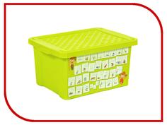 Корзина для игрушек Little Angel Обучайка Азбука 17L Light Green LA1023ОБ