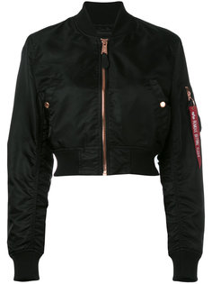 укороченная куртка бомбер Alpha Industries