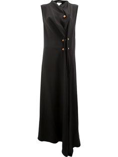 платье с драпировкой и разрезом  Litkovskaya