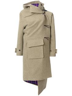 кашемировое пальто дафл Pulled Balenciaga