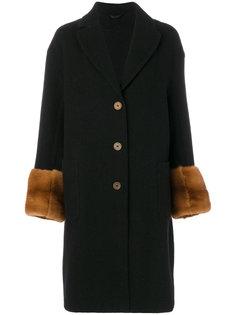 пальто с отделкой на рукавах  Ermanno Scervino