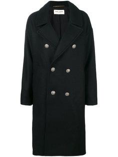 объемное пальто Officer Saint Laurent