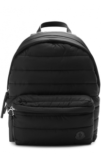 Текстильный стеганый рюкзак с внешним карманом на молнии Moncler