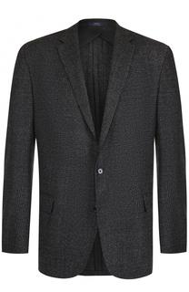 Шерстяной однобортный пиджак в клетку Polo Ralph Lauren
