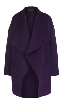 Шерстяное пальто свободного кроя St. John