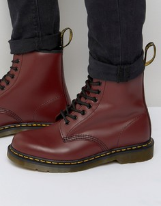 Ботинки с 8 парами люверсов Dr Martens Original - Красный