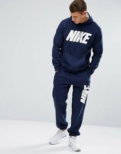 5fc92148 Флисовый спортивный костюм темно-синего цвета Nike JDI 861768-451 -  Темно-синий