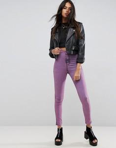 Розовые джинсовые джеггинсы с завышенной талией ASOS RIVINGTON - Розовый