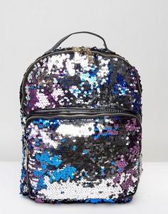 Рюкзак с пайетками 7X - Фиолетовый