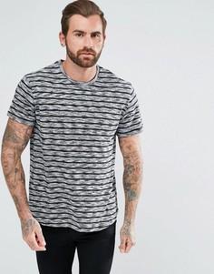 Серая футболка в полоску YOURTURN - Белый