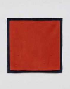 Трикотажный платок для пиджака Moss London - Оранжевый