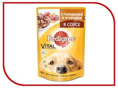 Корм Pedigree Пауч Говядина ягненок 100g для взрослых собак 10117304/AAG60