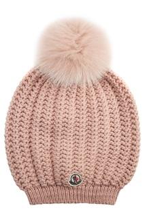 Вязаная шапка с помпоном Moncler