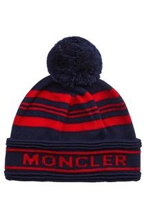 Шерстяная шапка с логотипом Moncler