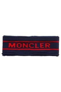 Шерстяная повязка с логотипом Moncler