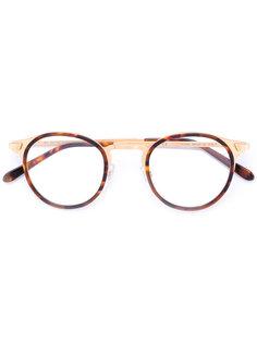 очки в круглой черепаховой оправе Retrosuperfuture